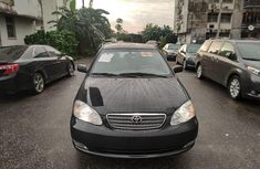 Foreign Used 2007 Black Toyota Corolla for sale in Lagos