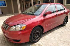 Nigeria Used Toyota Corolla 2004 Model Red