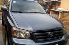 Nigeria Used Toyota Highlander 2005 Model Blue