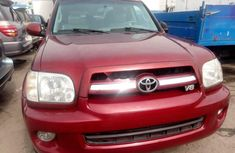 Foreign Used Toyota Sequoia 2006 Model Red