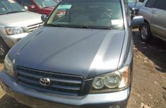 Foreign Used Toyota Highlander 2002 Model Gray