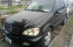 Nigeria Used Mercedes-Benz ML 320 2002 Model Black