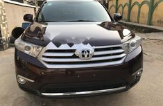Foreign Used Toyota Highlander 2012 Model Black