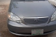 Nigeria Used Toyota Corolla 2007 Model Gray for Sale