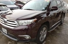 Foreign Used Toyota Highlander 2013 Model Brwon