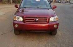 Foreign Used Toyota Highlander 2006 Model Red
