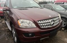 Foreign Used Mercedes Benz ML350 2008 Model Red for Sale