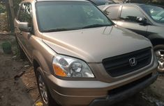 Foreign Used Honda Pilot 2005 Model Gold for Sale