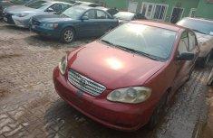 Nigeria Used Toyota Corolla 2003 Model Red