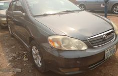 Nigeria Used Toyota Corolla 2005 Model Gray