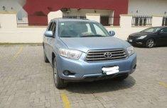 Nigeria Used Toyota Highlander 2008 Model Blue