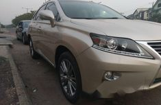 Foreign Used Lexus RX 2013 Model Gold