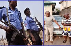 Lagos police arrests two notorious robbers that steal cars from churches