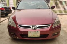 Nigeria Used Honda Accord 2005 Model Red for Sale
