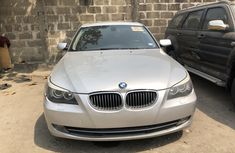 Foreign Used BMW 5 Series 2009 Model Silver for Sale