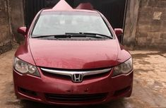 Nigeria Used Honda Civic 2006 Model Red