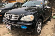 Tokunbo Mercedes-Benz ML 320 2003 Model Black