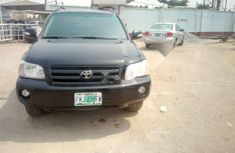Nigeria Used Toyota Highlander 2002 Model Black