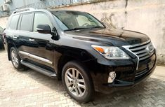 Foreign Used Lexus LX570 2015 Model Black for Sale