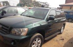 Nigeria Used Toyota Highlander 2002 Model Green