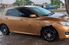 Foreign Used Toyota Matrix 2009 Model Gold
