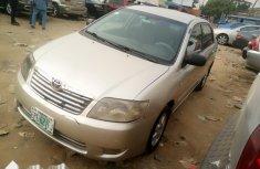 Nigeria Used Toyota Corolla 2002 Model Gold