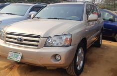 Nigeria Used Toyota Highlander 2007 Model Gold