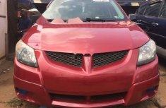 Tokunbo Pontiac Vibe 2003 Model Red