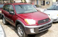 Foreign Used Toyota RAV4 2001 Model Red
