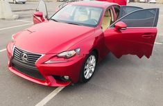 Foreign Used Lexus IS 2014 Model Red