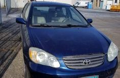 Foreign Used Toyota Corolla 2003 Model Blue