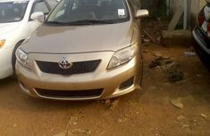 Foreign Used Toyota Corolla 2010 Model Gold