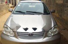 Nigeria Used Toyota Corolla 2004 Model Silver