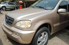 Foreign Used Mercedes-Benz ML350 2005 Model Gold