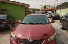 Nigeria Used Toyota 2009 Model Red