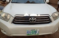 Nigeria Used Toyota Highlander 2009 Model White