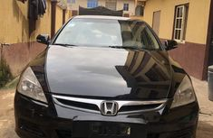 Nigeria Used Honda Accord 2007 Model Black