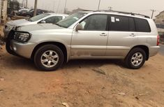 Foreign Used Toyota Highlander 2002 Model Silver