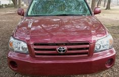 Foreign Used Toyota Highlander 2005 Model Red