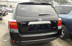 Foreign Used Toyota Highlander 2009 Model Black
