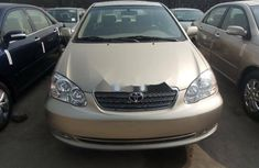 Foreign Used Toyota Corolla 2005 Model Gold