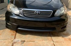 Foreign Used Toyota Corolla 2005 Model Black