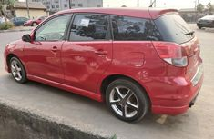 Foreign Used Toyota Matrix 2004 Model Red