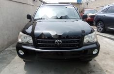 Foreign Used Toyota Highlander 2001 Model Black