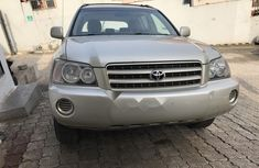Foreign Used Toyota Highlander 2004 Model Silver
