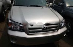 Foreign Used Toyota Highlander 2006 Model Silver