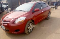 Locally Used 2008 Red Toyota Yaris for sale in Lagos.