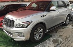 Foreign Used Infiniti QX80 2017 Model Silver