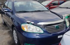 Foreign Used Toyota Corolla 2007 Model Blue