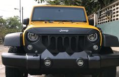 Foreign Used Jeep Wrangler 2015 Model Yellow